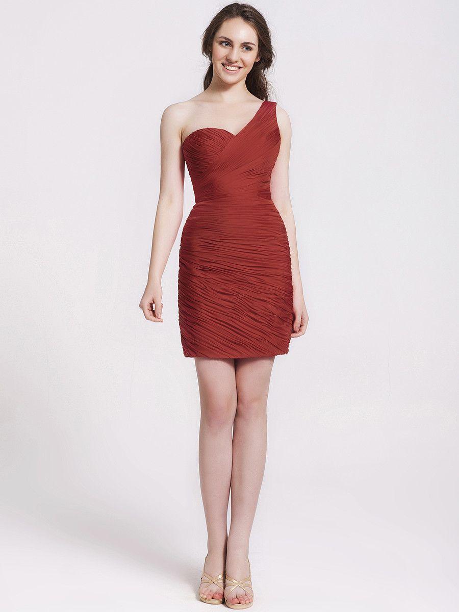 One shoulder ruched bridesmaid dress fashion pinterest