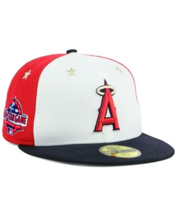 ce3aa231 New Era Boys' Los Angeles Angels Mlb All Star Game Patch 59FIFTY Fitted Cap  2018 - Navy/Scarlet/White 6 3/8