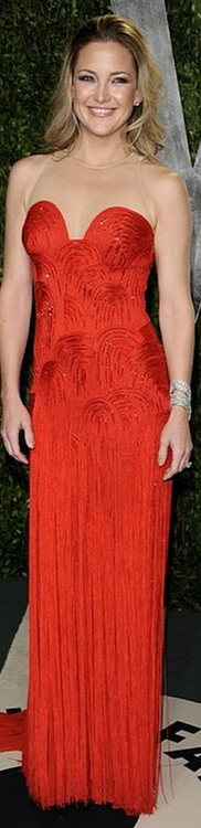 Kate Hudson wowed in beaded and fringed vintage Versace.