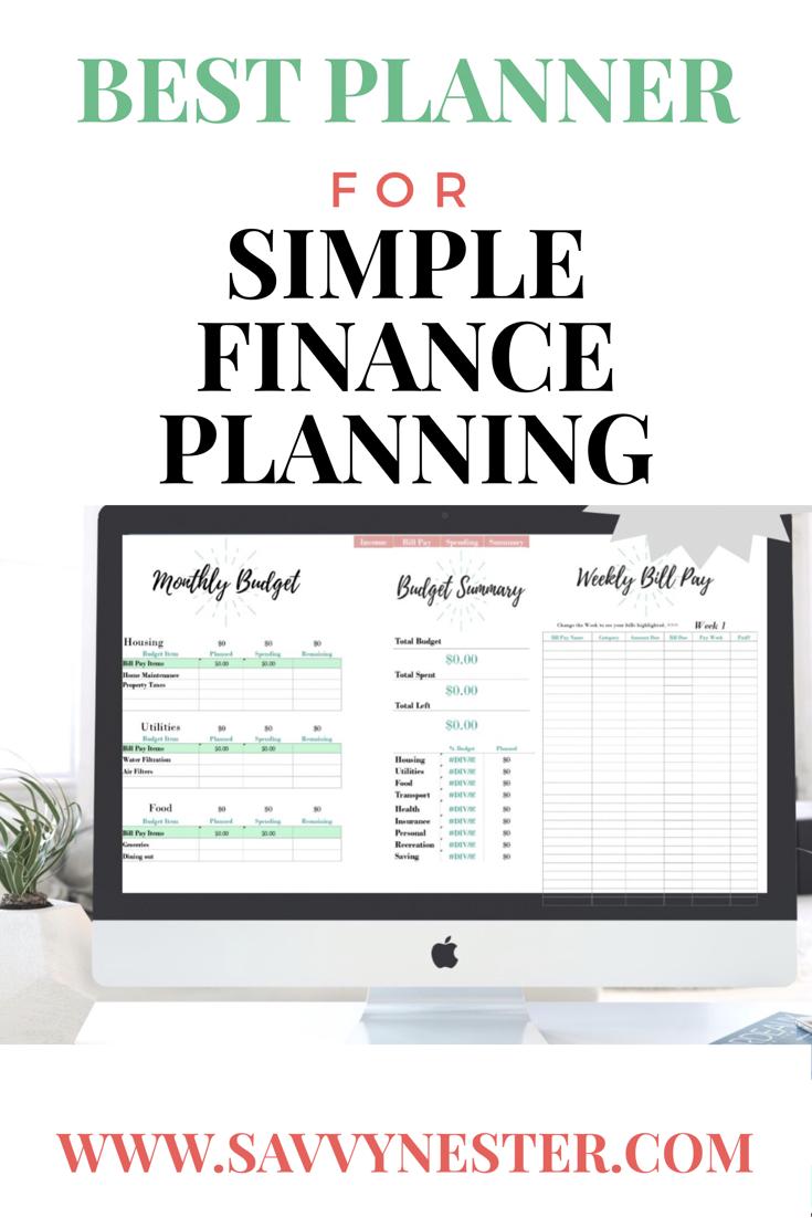 simple personal finance spreadsheet