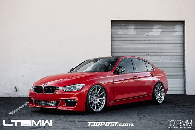 Bmw F30 335i Red Hre P43sc Brush Tinted Ltbmw By Hre Wheels With