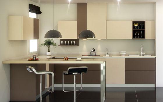Cocina Color Beig Y Chocolate Mobiliario De Cocina Cocinas