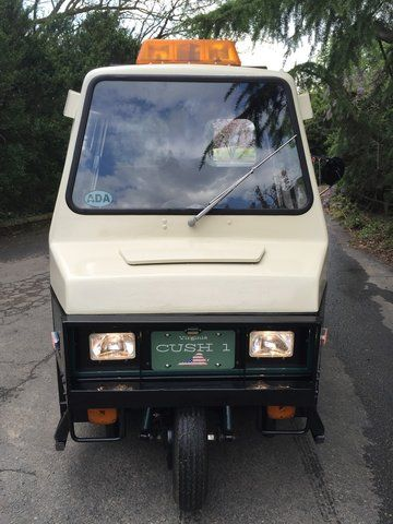 """Cushman Police ATM Cart (Haulster) cart that I restored. Fun project with family and friends! Converted headlights, installed plate """"CUSH1"""""""