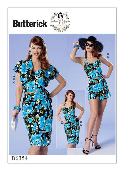 Vintage 1950s Butterick sewing Pattern by Gertie: B6354 Misses ...