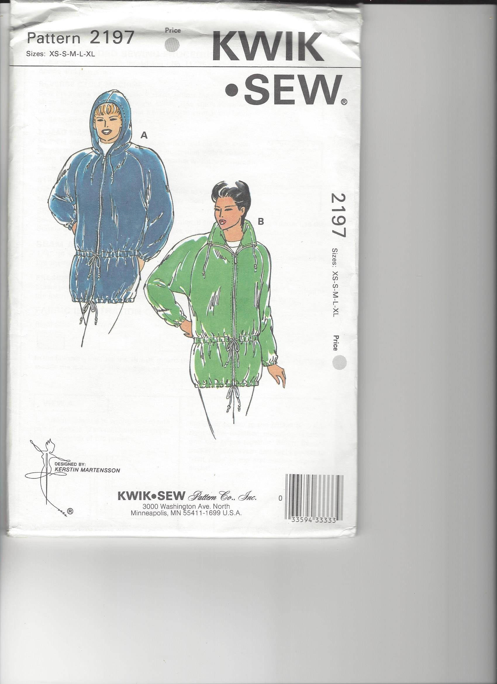 Kwik Sew Pattern 2197 UNCUT sizes XS-XL by SewingasaHobby on Etsy