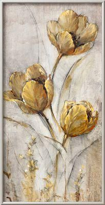 Golden Poppies on Taupe I By Tim O'toole