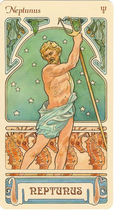 Neptunus Planet : neptunus, planet, Pisces:, Planet, Neptune,, Named, After, Roman, Neptunus,, Ruling, Pisces., Nouveau, Poster,, Astrology, Mucha