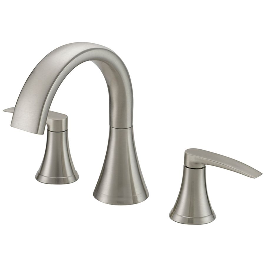 Jacuzzi Lyndsay Brushed Nickel 2-Handle Deck Mount Bathtub Faucet ...