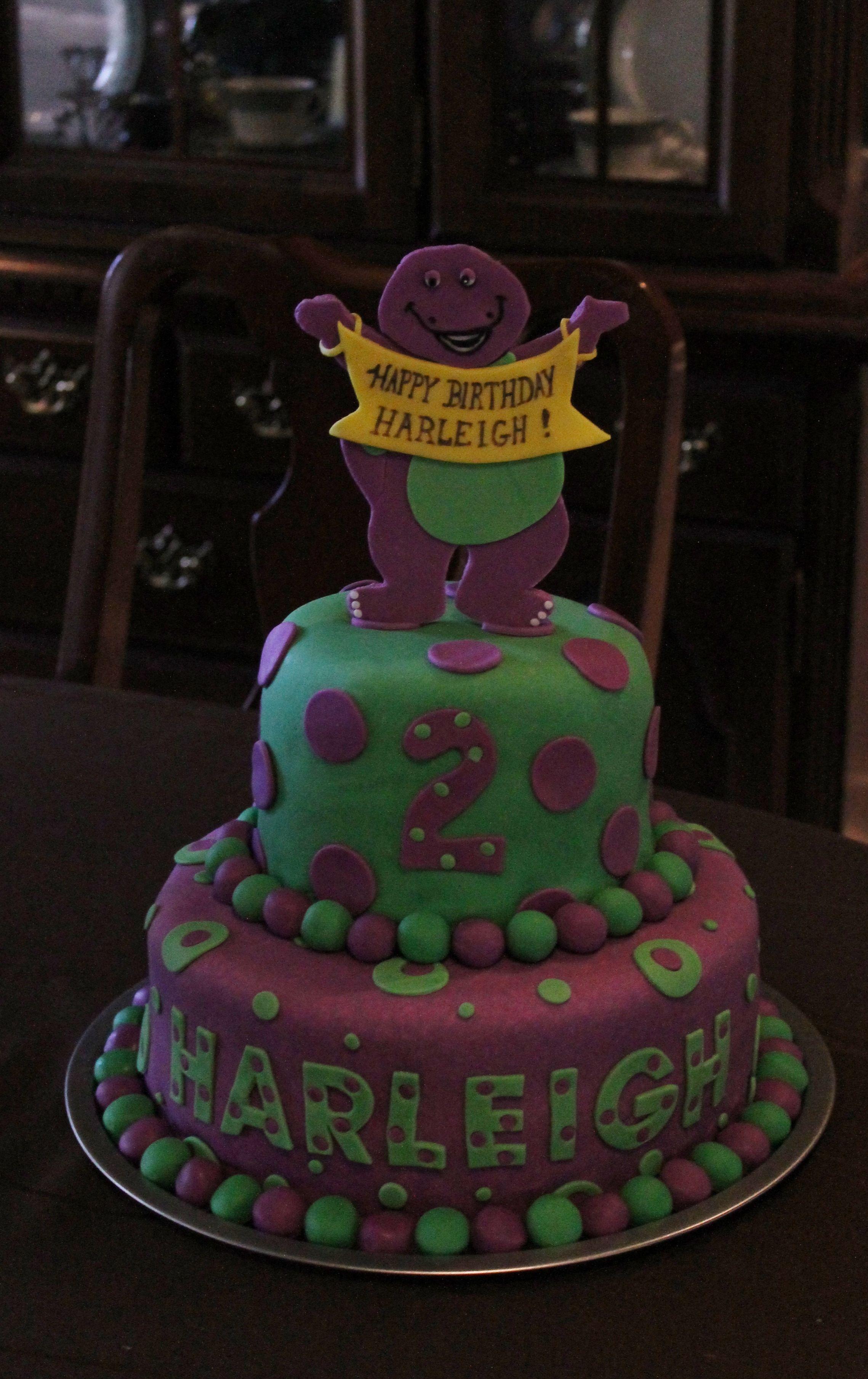 Children S Birthday Cakes Barney