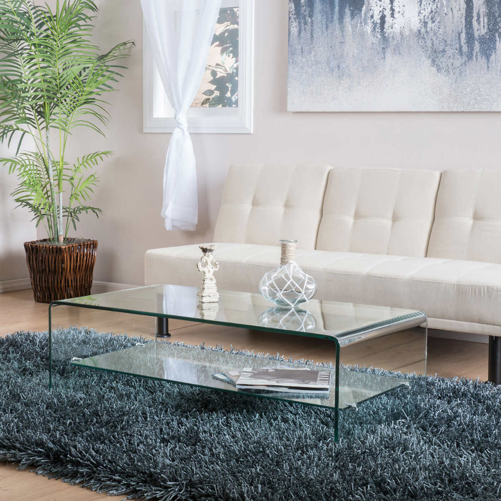 Pin By Cece Monet On Coffee End Tables Modern Glass Coffee Table Coffee Table With Shelf Coffee Table [ 1000 x 1000 Pixel ]