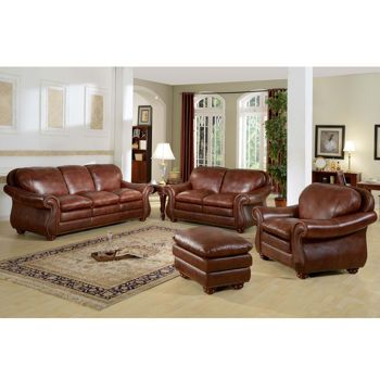 Living Room Furniture Costcos Houston 4 Piece Top Grain Leather Set For 2300