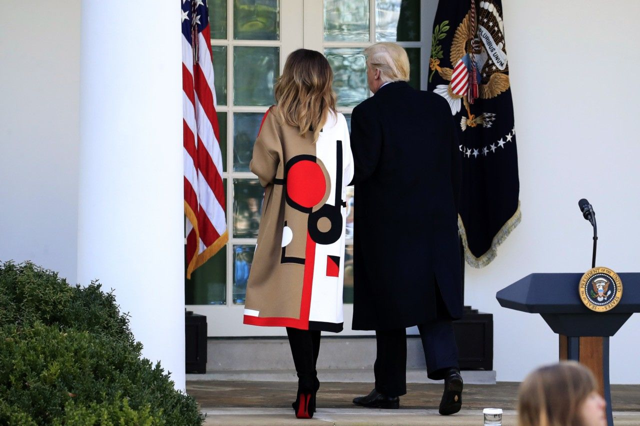 Fashion Notes Melania Trump Ready For Thanksgiving In Daring Dior