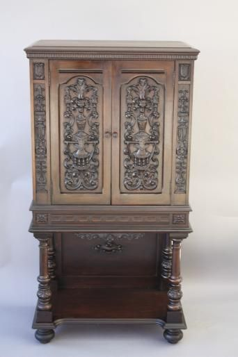 Superbe Beautiful 1920u0027s Carved Secretary Cabinet, Armoires And Cabinets, Spanish  Revival, Mediterranean