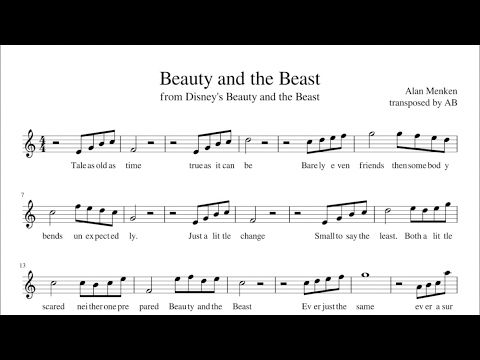 beauty and the beast sheet music pdf alto sax cover. Black Bedroom Furniture Sets. Home Design Ideas