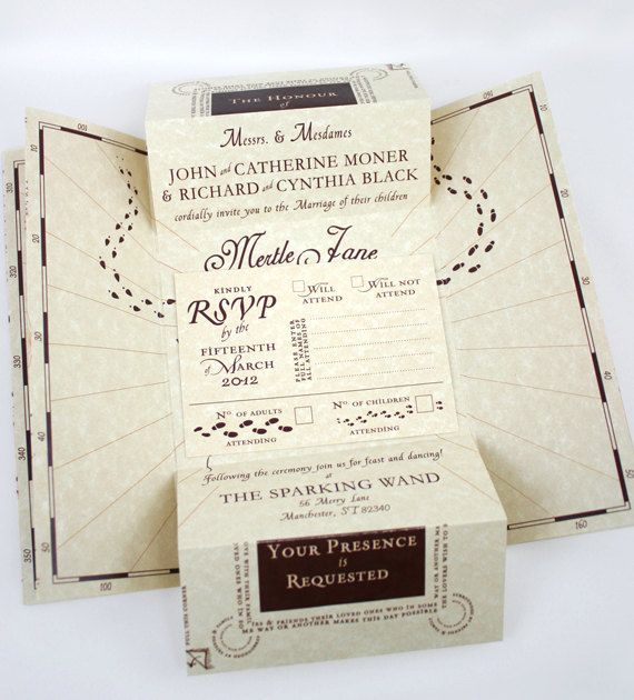 Romance Managed Full Version Harry Potter Inspired Invitation