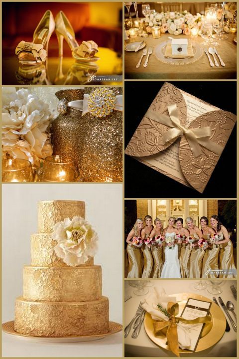 Gold Wedding Ideas / Are You Into Heavy Metal? « David Tutera Wedding Blog • It's a Bride's Life • Real Brides Blogging til I do!