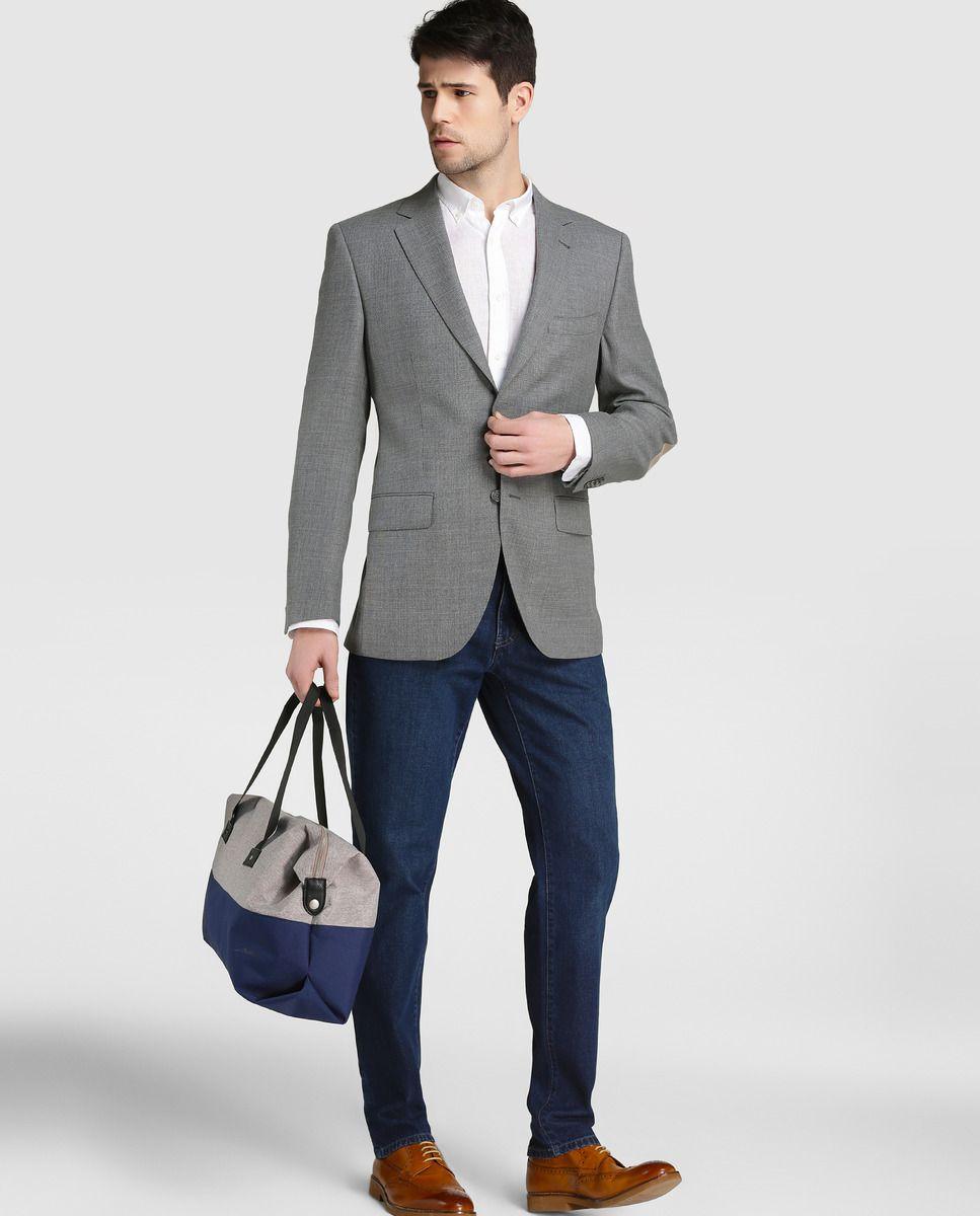 8d738a40d1619 Americana de hombre Emidio Tucci slim de saco gris · Emidio Tucci · Moda ·  El Corte Inglés