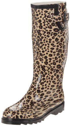 449cc2e267f6 Wide Calf Rain Boots for Women | Spylovebuy Wellies Leopard | Chic ...