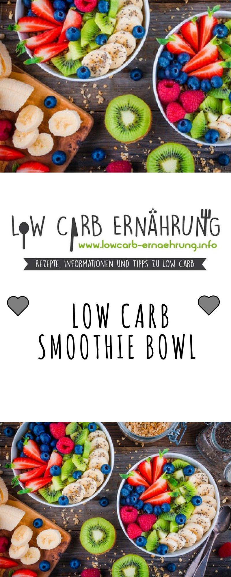 Low Carb Rezept für eine leckere fruchtige Smoothie Bowl mit wenig ...