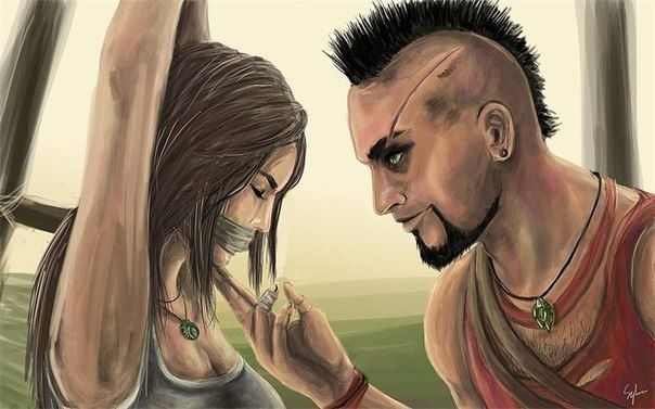 Lara Croft and Vaas Montenegro. This would be an awesome crossover!