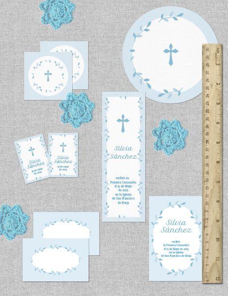 Colección de imprimibles Corona de hojas para comunión | comunión ...