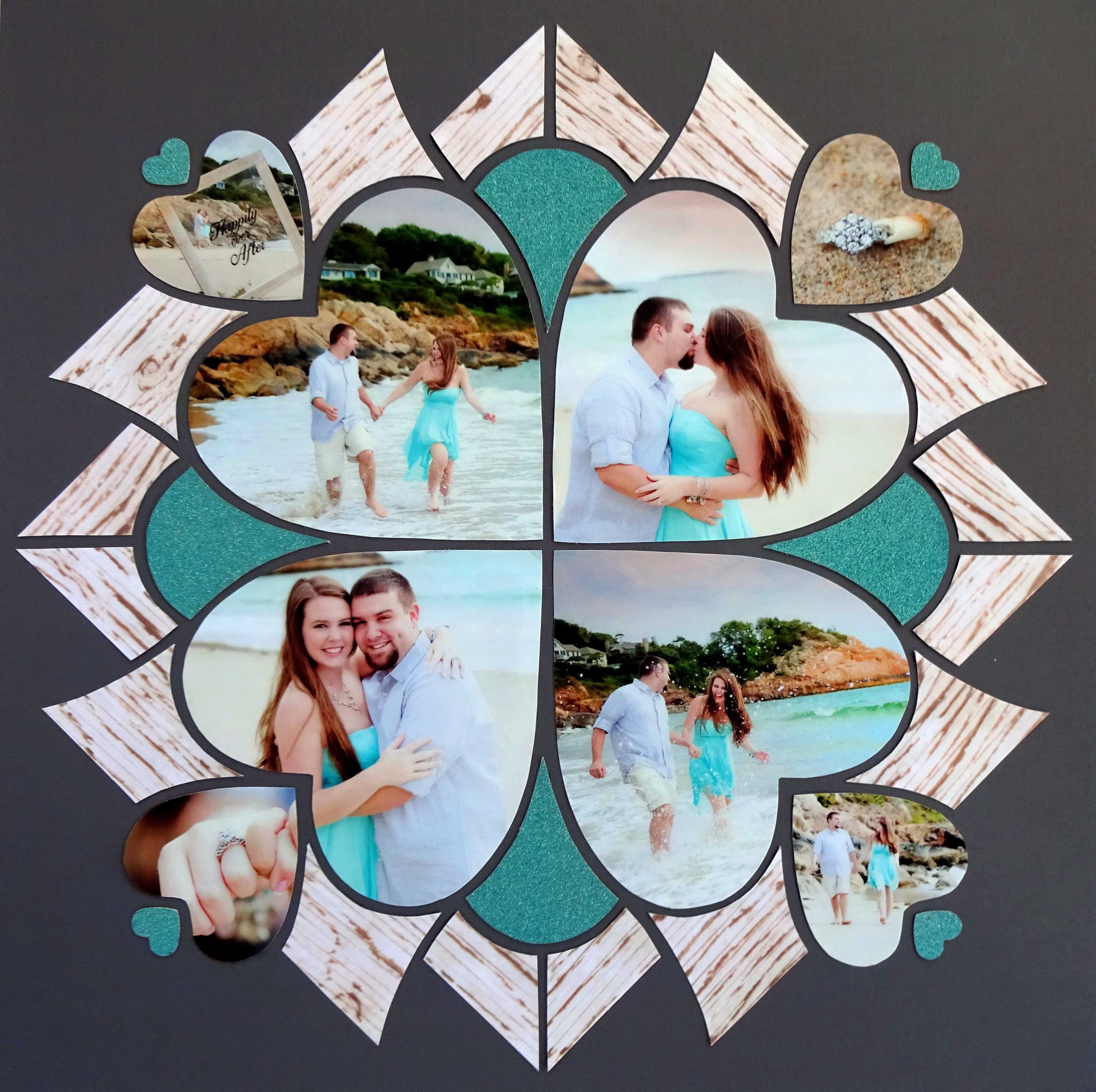 33 creative scrapbook ideas every crafter should know diy projects - Layout Created By Sandy Cucinotti Using Lea France Romance Stencil Photo Credit A Brilliant Wedding Scrapbook Pagesbirthday