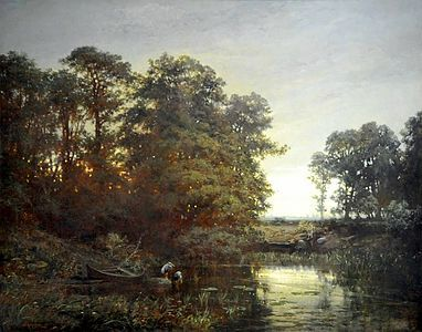 Charles Francois Daubigny Landscape With A Pond 1861 Medium