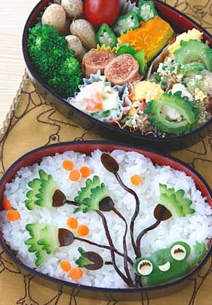 amazing presentation of bento and other foods on this site lunch