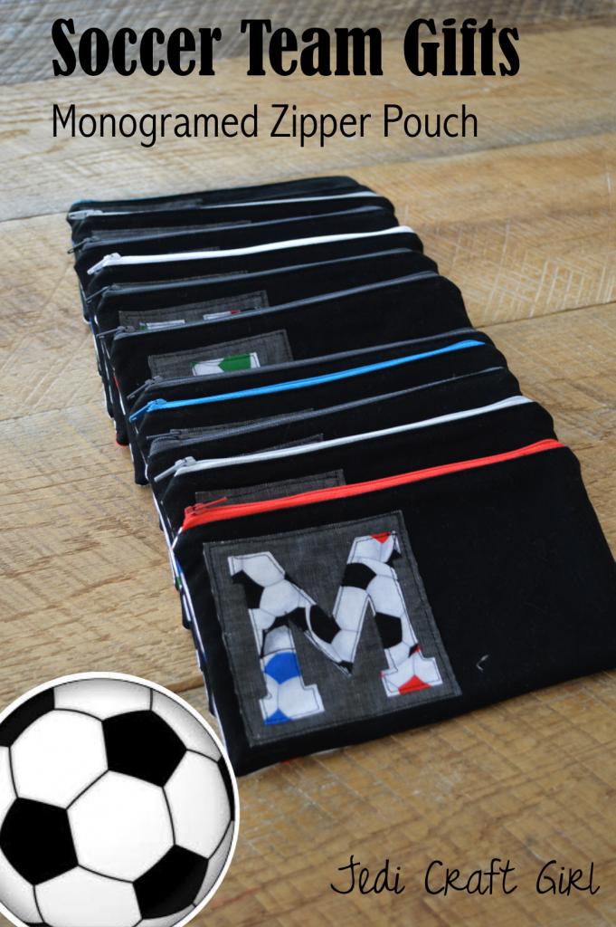 Soccer Zipper Pouch Tutorial Soccer Team Gifts Soccer Coach Gifts Soccer Gifts