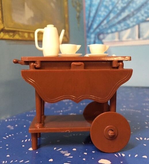 Reliable Dollhouse Miniature Teacart Vtg Doll Furniture 1 16 Renwal Marx  Ideal | EBay