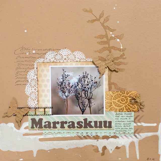 Arts and crafts made with Love - Elinan käsityökori: ILS marraskuun värit - November colours