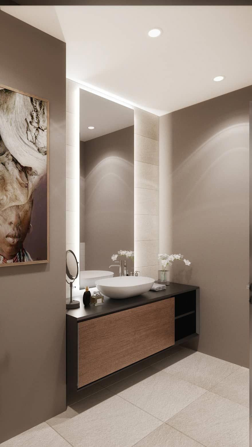 60 Yellow Decorated Bathrooms Beautiful Photos Led Mirror