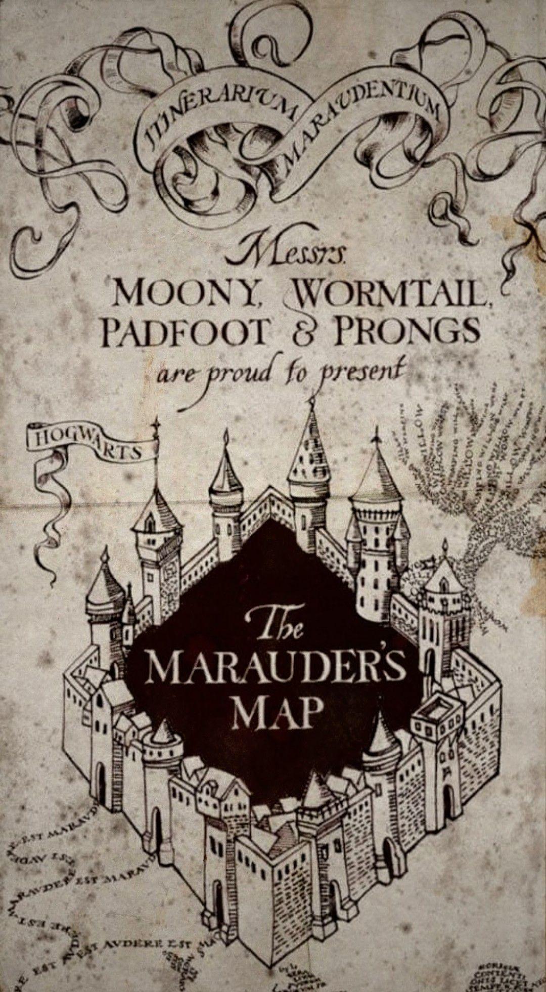 Marauder Map Can Be Use As A Wallpaper Harry Potter Wallpaper Harry Potter Marauders Map Harry Potter Marauders
