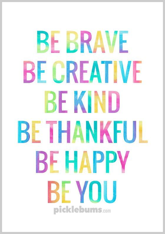 Positive Quotes For Kids | A Little Reminder To Be You Free Printable Poster Positive