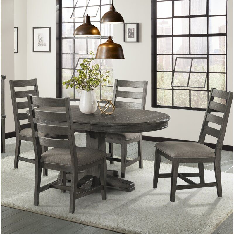 Staley 5 Piece Extendable Solid Wood Dining Set In 2020 Solid Wood Dining Set Furniture Nook Dining Set