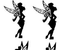 picture relating to Tinkerbell Silhouette Printable titled tinkerbell silhouette tattoo - Google Look Tatouage