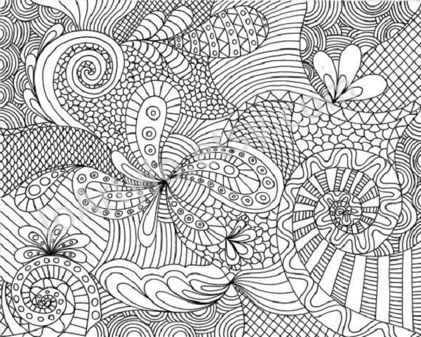 Hard Coloring Page Coloring Book Detailed Coloring Pages Abstract Coloring Pages Pattern Coloring Pages