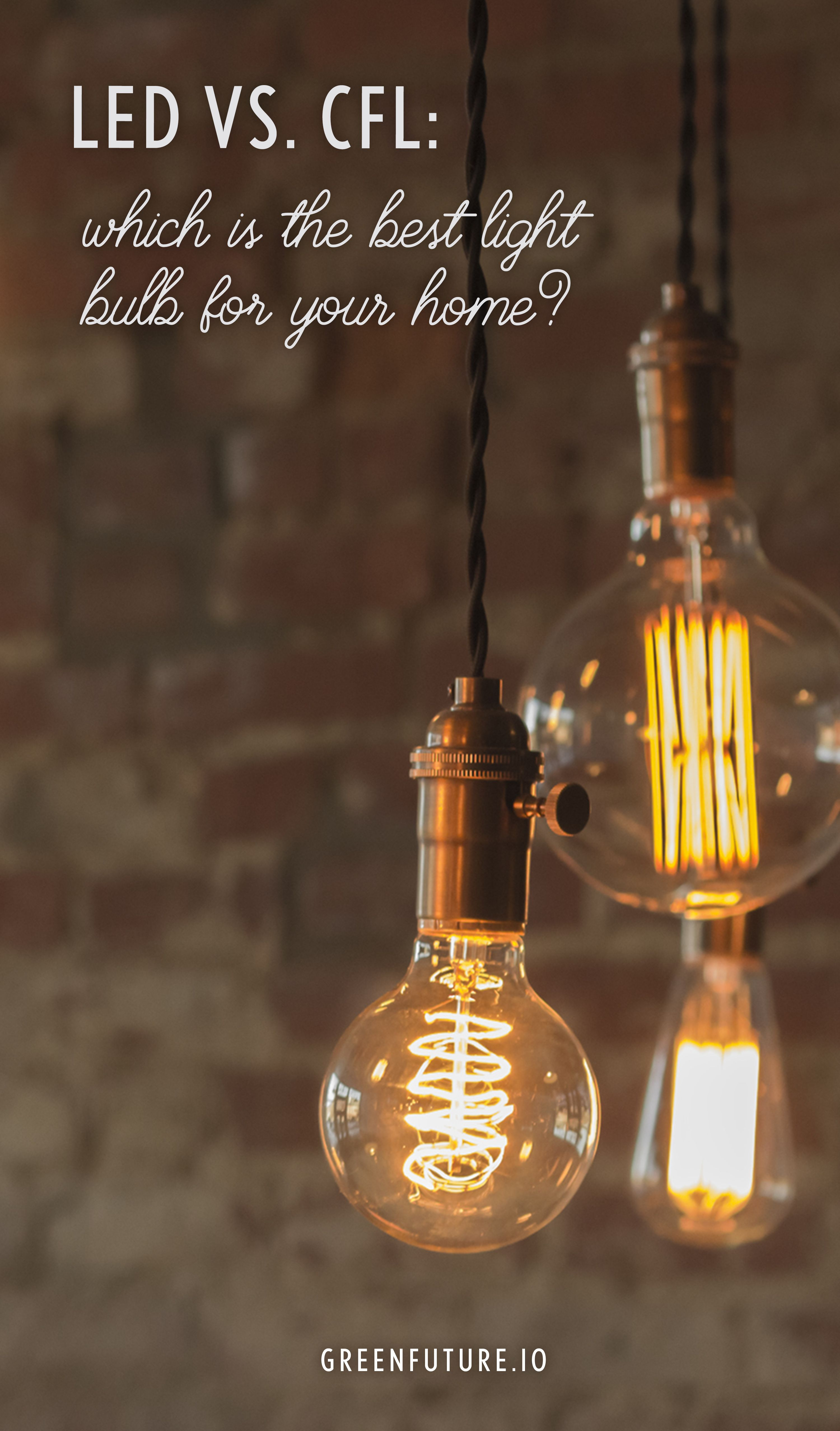 For over 100 years, there was only 1 way to light your home: the incandescent lightbulb.  But in the '90s, consumers started to have options at their local Home Depot's lighting section. And considering that modern bulbs can last for years, it became more important than ever to make the right decision.   This guide will help you make sense of the two most popular types of eco-friendly bulbs today: compact fluorescent light (CFL) bulbs and light-emitting diode (LED) bulbs.