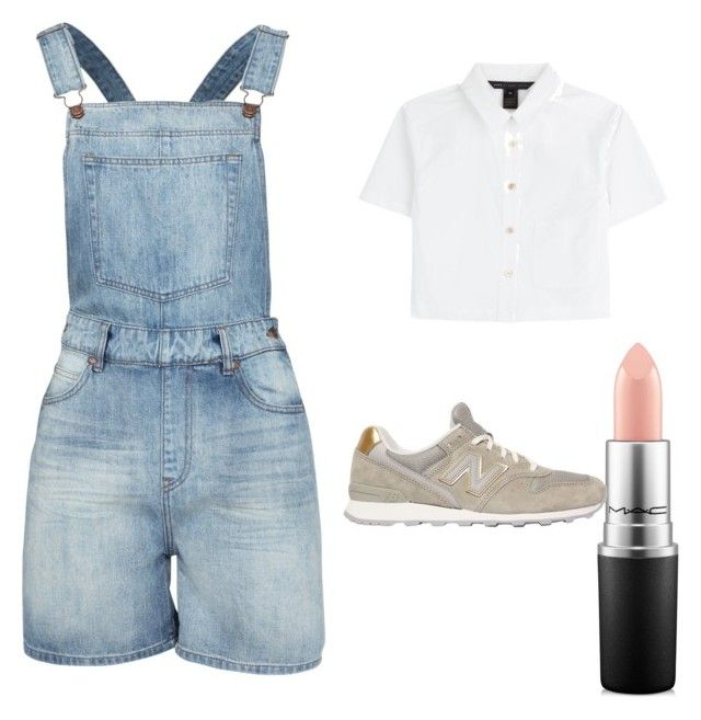 """Untitled #10"" by bluxberry ❤ liked on Polyvore featuring Dr. Denim, Marc by Marc Jacobs, MAC Cosmetics and New Balance"