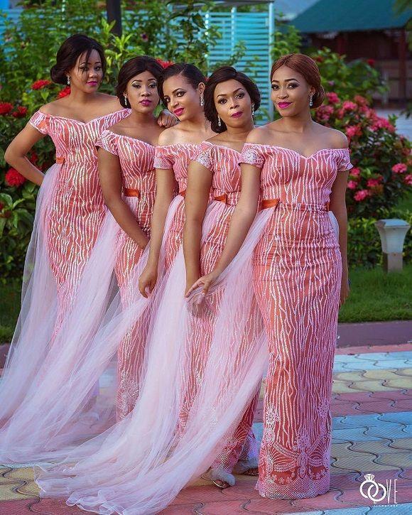 Bridal Train Asoebi Style Inspirations Robe Africaine Demoiselle D Honneur Tenue Demoiselle D Honneur Demoiselle D Honneur Africaine