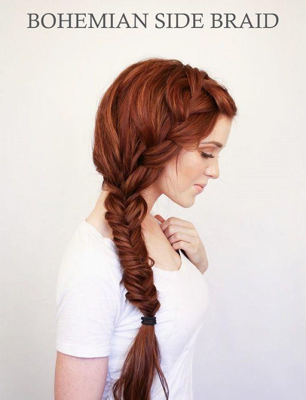 rich+copper+hair+hue+bohemian+braid