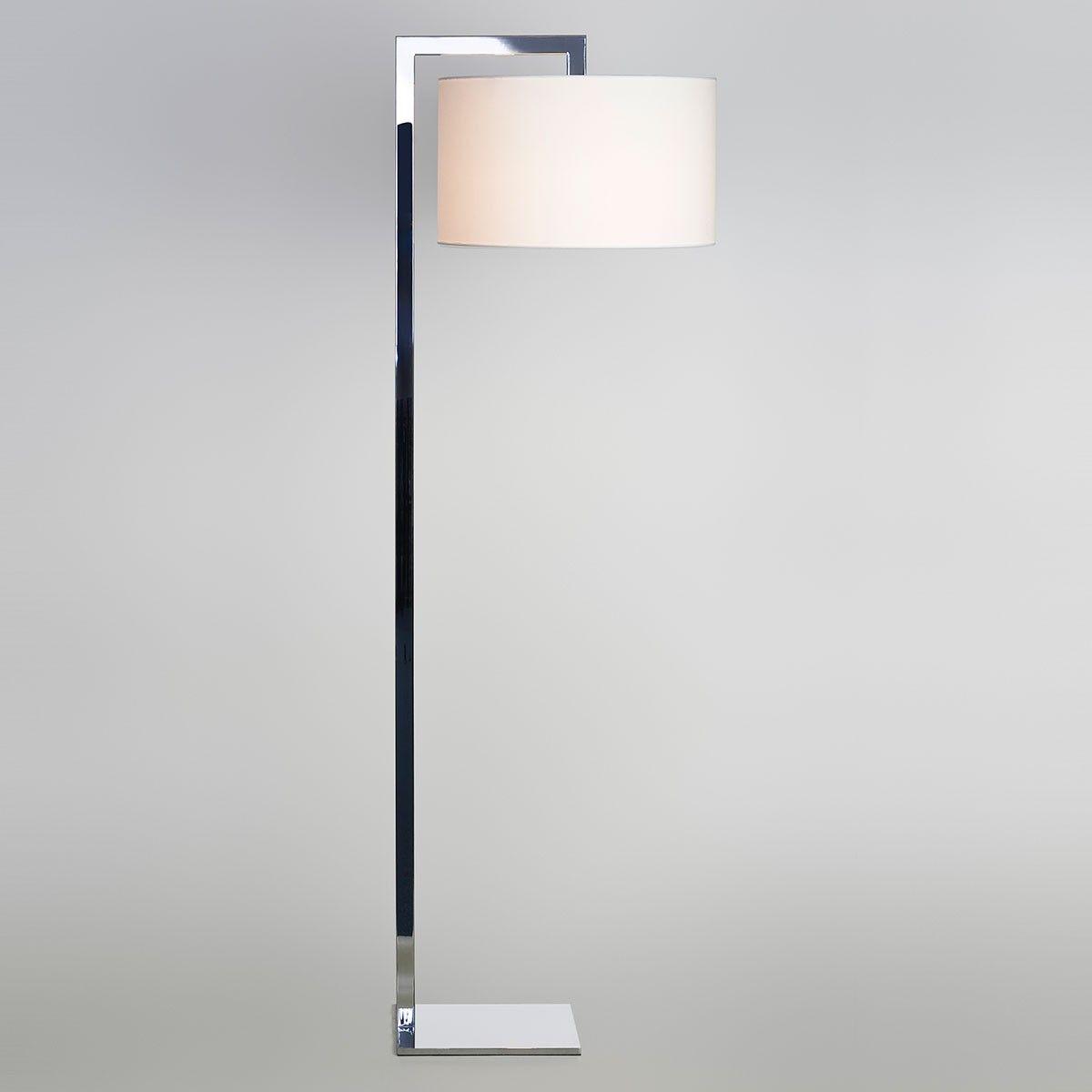 Astro Ravello Floor Polished Chrome Floor Lamp With White Large Drum Shade Chrome Floor Lamps Modern Floor Lamps Floor Lamp