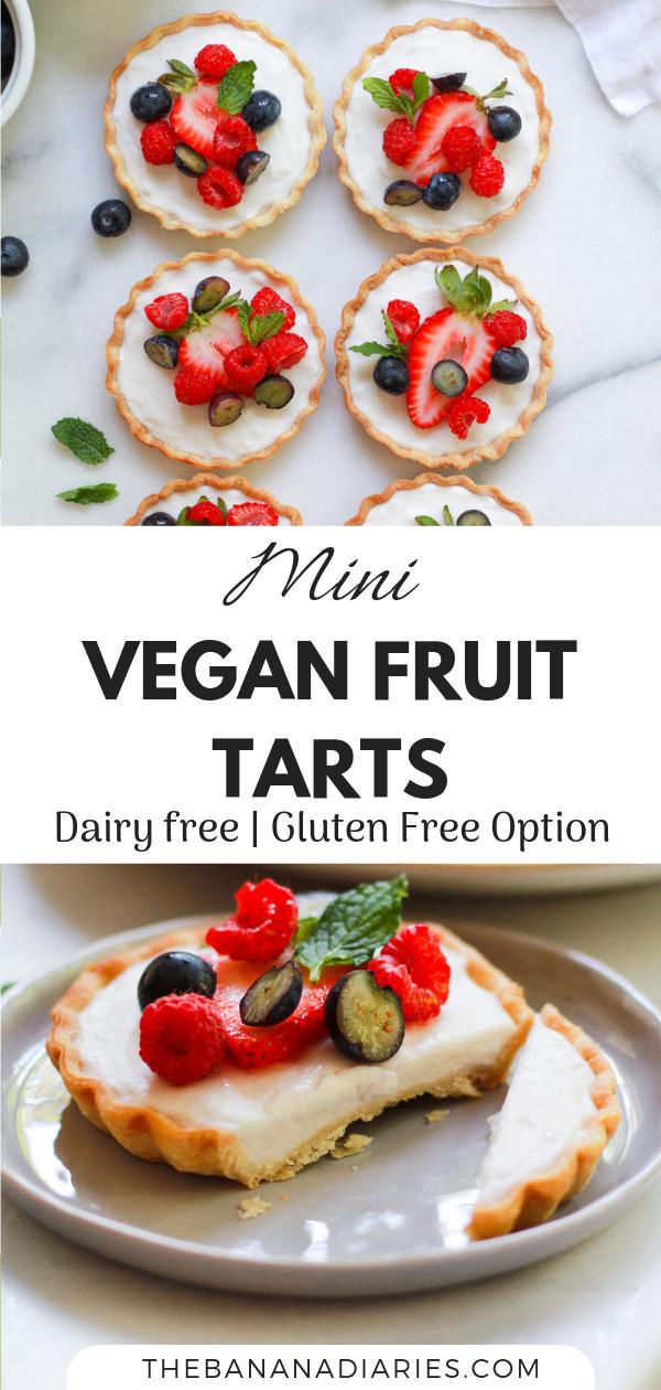 Vegan Mini Fruit Tarts with Custard images