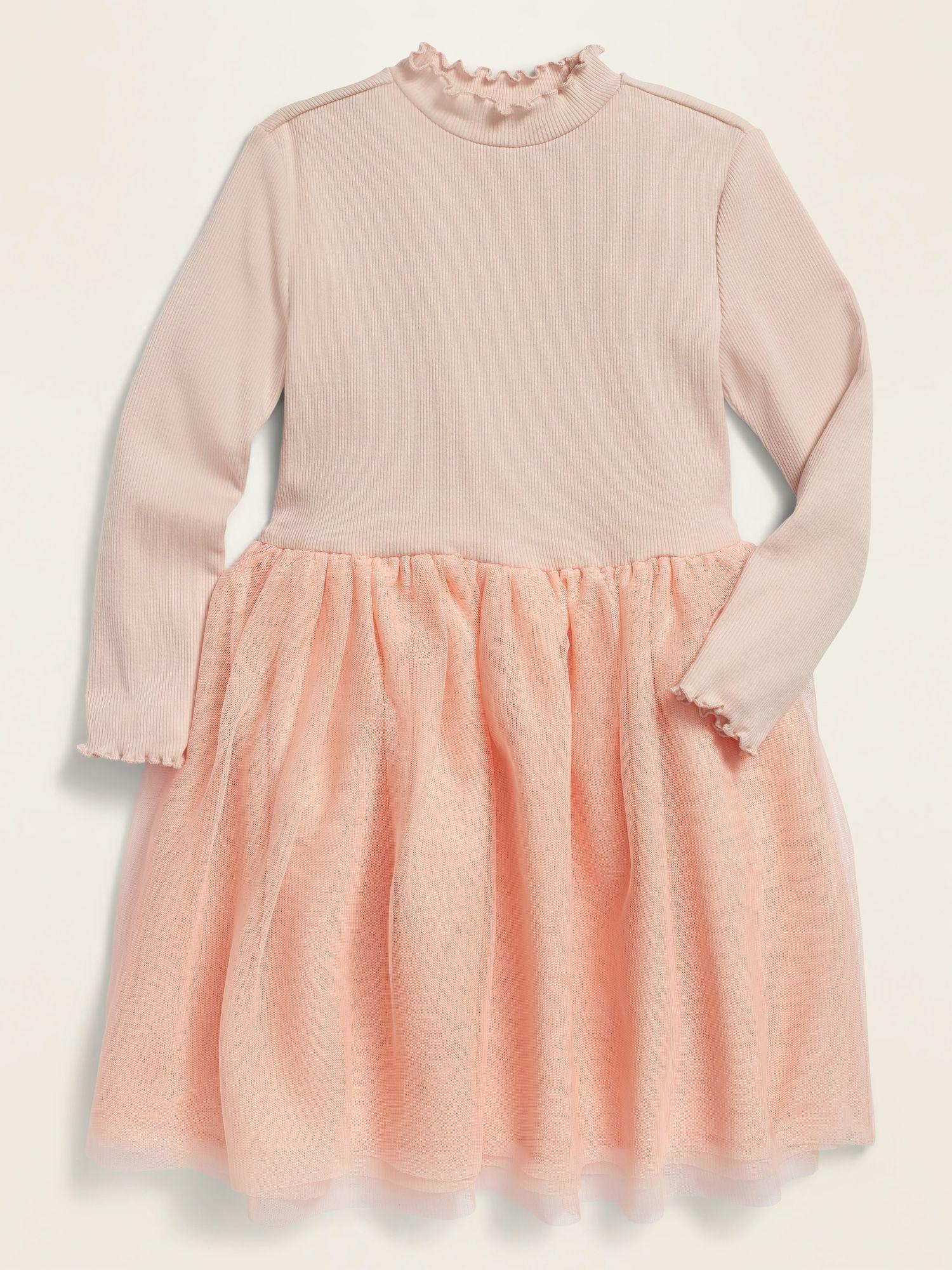 Old Navy Long Sleeve Rib Knit Tutu Dress For Toddler Girls Shell Pink Size 5t Toddler Girl Dresses Toddler Dress Toddler Girl Outfits [ 2000 x 1500 Pixel ]