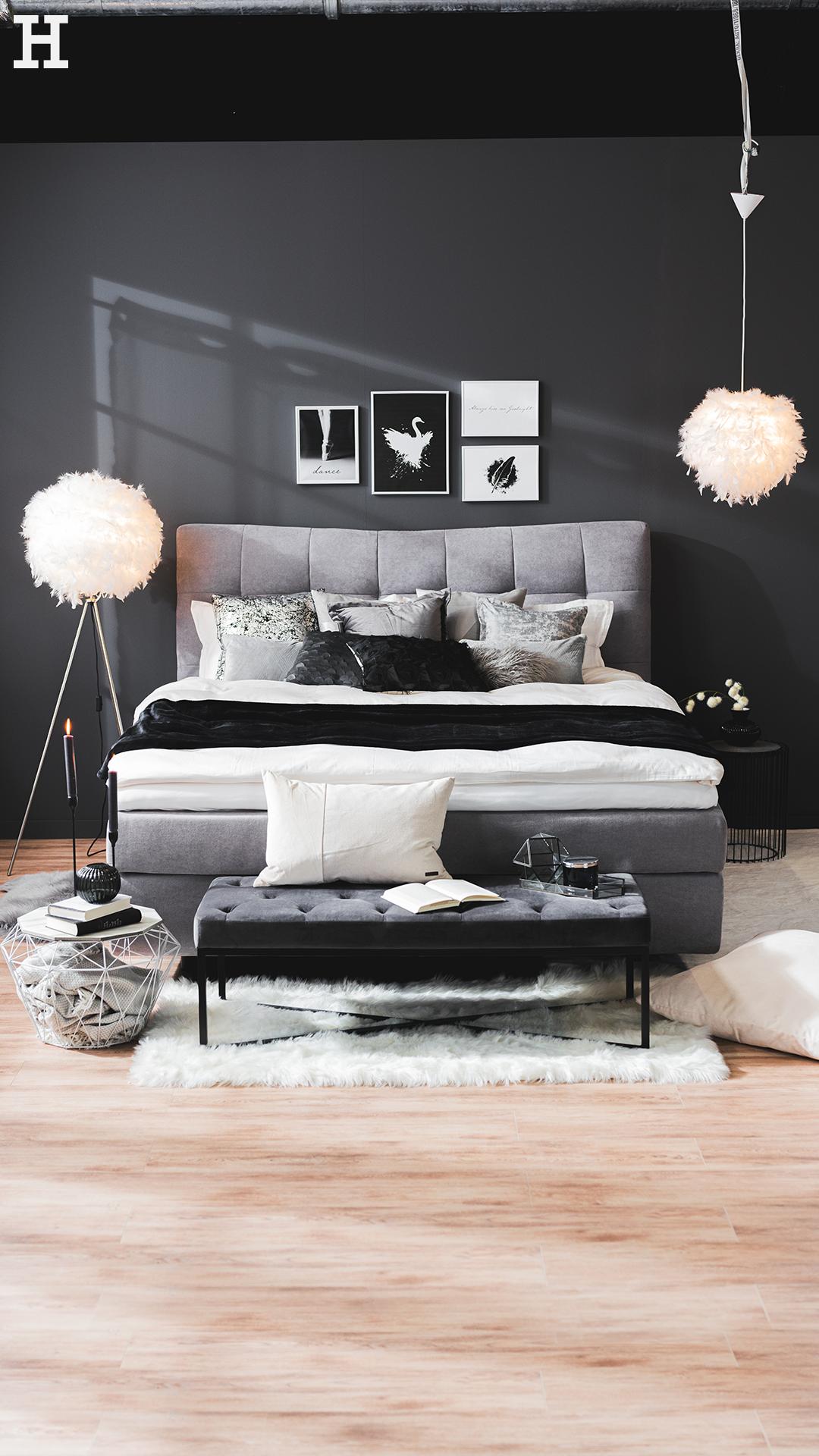 Shop The Look Cosy Grey Mobel Hoffner In 2020 Schlafzimmer Einrichten Schlafzimmer Schwarz Weiss Weisse Zimmer