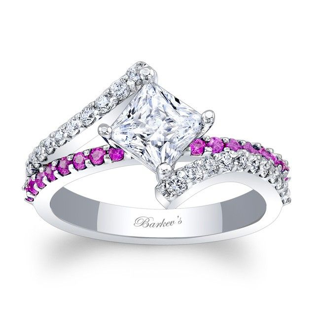 199bb8eff This classic white gold diamond engagement ring features a prong set  princess cut diamond center. The ridges of the split shank are adorned with  shared ...
