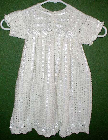 Knitting Patterns Christening Baptism Free Crochet Pattern