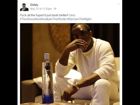 P Diddy said Ciroc is the only Good Vodka on Facebook