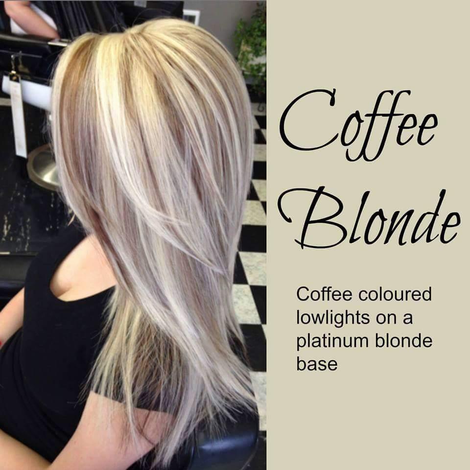 coffee blonde hair. platinum blonde hair with coffee