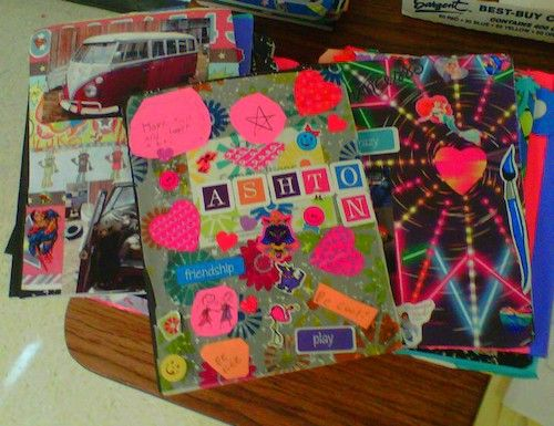 Have students decorate and design composition notebooks and